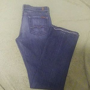 7 for all mankind long bootcut size 30 jeans